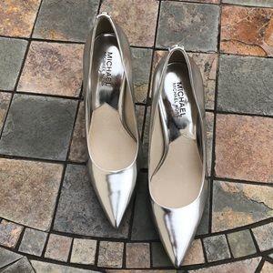 Brand New Michael Kors Chrome Heels